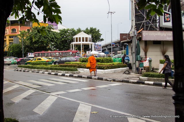 Just as we were departing, this monk in bright saffron coloured robe who happened to walked towards us, stopped for a while and made a peace gesture. Wow, that's what I call instant gratification!
