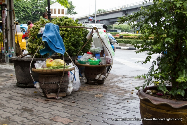 Another common sight in Bangkok -  mobile street food.