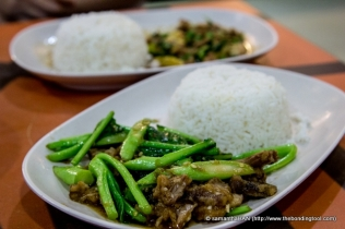 I had a rice set of kailan with pork.