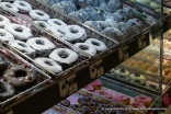 All kinds of Charcoal donuts.