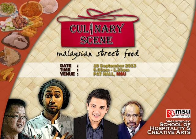 Tony invited on the panel of Culinary Scene (Malaysia Street Food) in KL 10 September 2013.