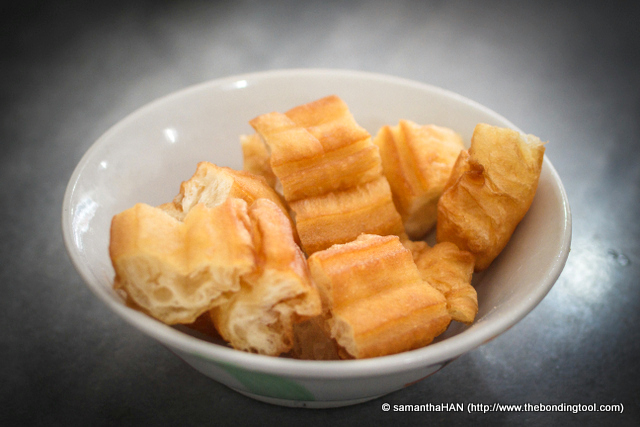 "You Char Kway or Youtiao 油条. We love to dunk these savoury Chinese ""churros"" into our BKT broth."