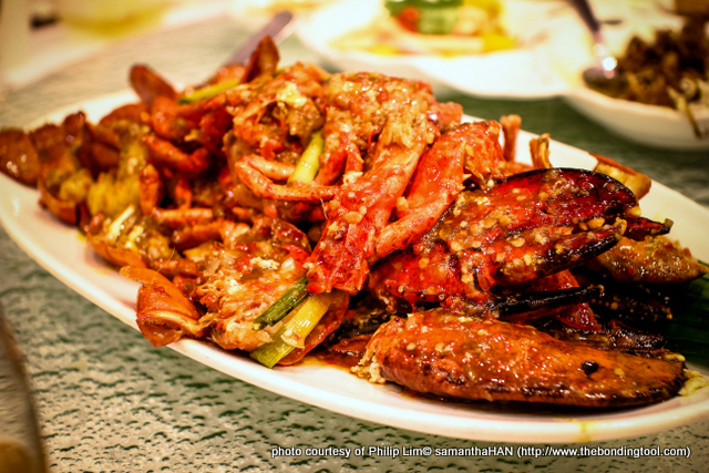 Singapore Chilli Crab famous because of its gravy but you can substitute crabs with Boston Lobsters or even Prawns!