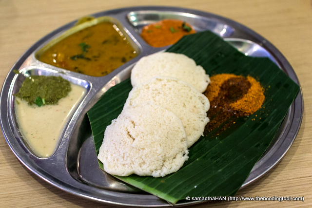 Idli Meal. Not exactly my type of lunch but I'll take it as detox day.