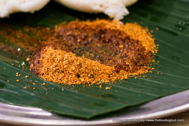 Idli Podi or Idly Milagai Podi.  This was very spicy and salty.