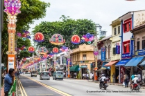 Little India is decorated with lights in preparation for Deepavali, the festival of Lights, coming soon.