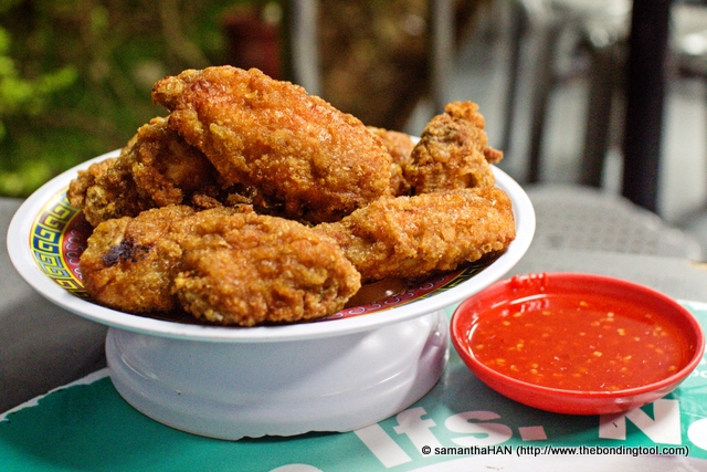 Prawn Paste Chicken (Har Cheong Gai 虾酱鸡) - S$7.<br />Crispy but a little greasy.