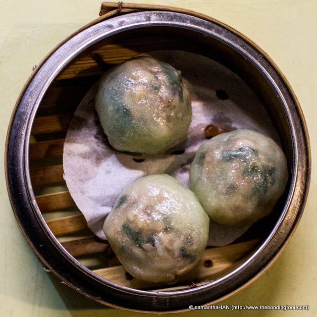 Green chives and meat in translucent dough skin. Typical Teochew? Yes and delectable too!
