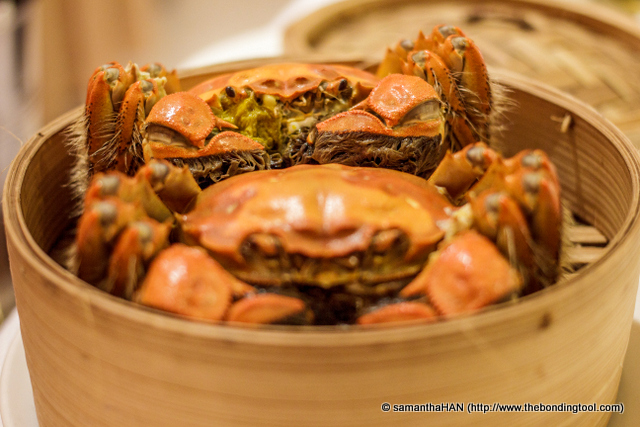Hairy Crabs - smaller sized ones at 175g for S$28 per piece before taxes.