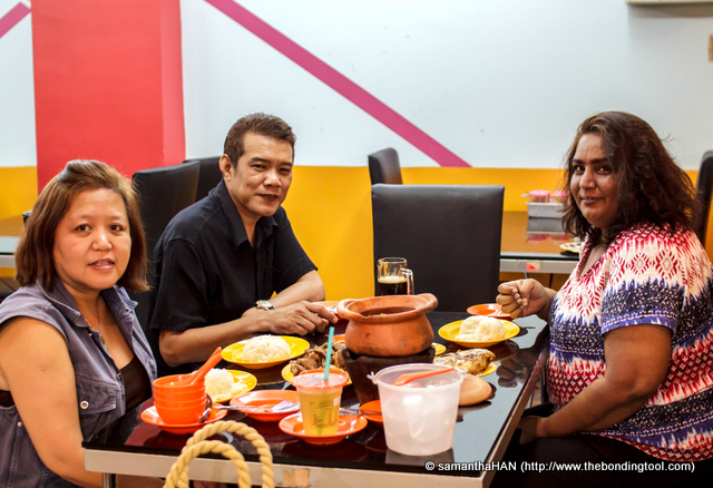 """Ranjita, far right, had Thai cravings. So here we are doing Thai cuisine at an """"authentic"""" eatery in Beach Road."""