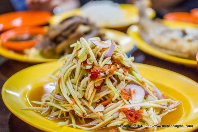 """Thai Mango Salad. Spicy? May said """"yes!"""" but I think not. Appetizing? both of us agreed, """"Yes!"""""""