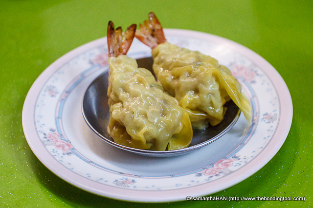 The Shrimp & Pork Wanton came in a set of two and Adrian graciously let Yap and I have them saying he did not like prawns.