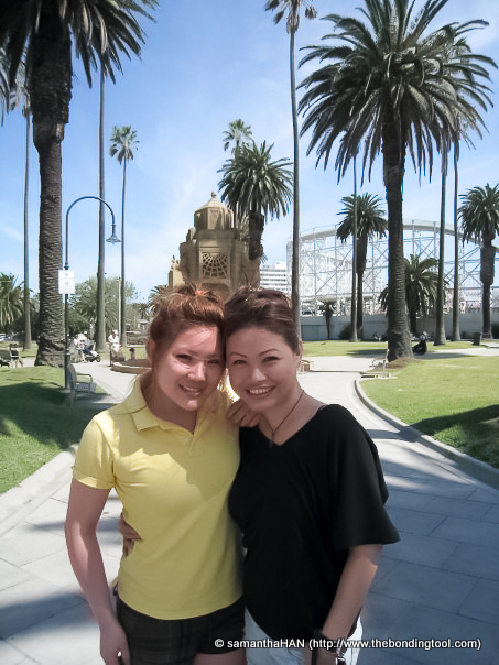 Vanessa and I in one of our walks at St. Kilda's.
