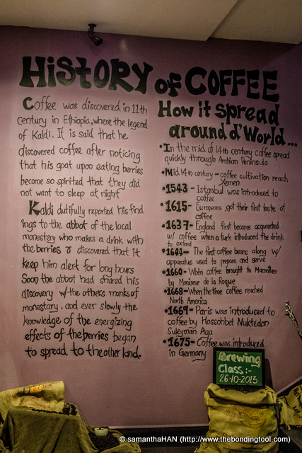 Were the boys discussing the history of coffee?