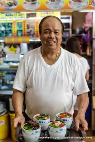 根叔 (Gen Shu) former chef in Shang Palace Shangri-La Hotel, Singapore.