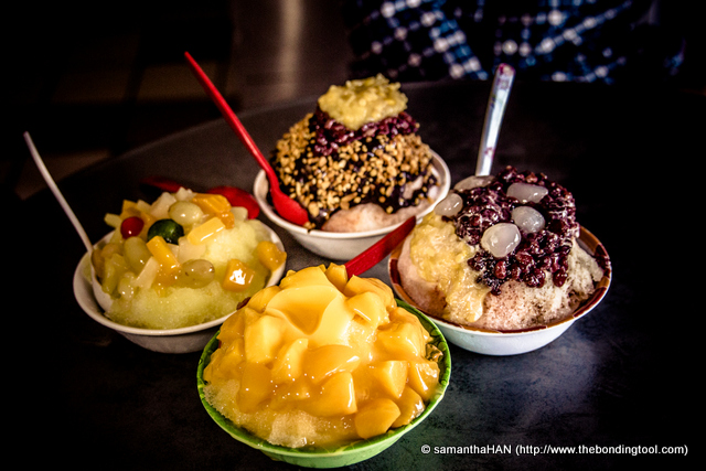 "Ais Kacang (where ""ais' means ice and ""kacang' means beans) has evolved to Ice Kacang. It is an old school dessert common in Asia, especially Malaya."