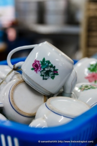 Just looking at these teapots, one can tell how particular the Liaws are with hygiene.