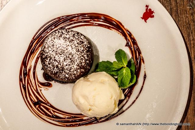 Classic Warm Chocolate Cake.