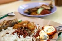 The effort of cooking the egg twice is seldom used for nasi lemak preparation.