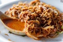 Rice noodles (beehoon/bihun) - I like to drown mine in curry gravy, lots of it!