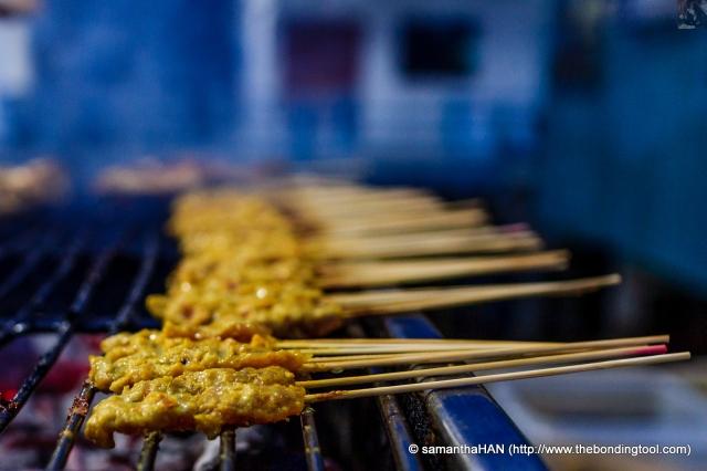 Satay or BBQ skewered Chicken.