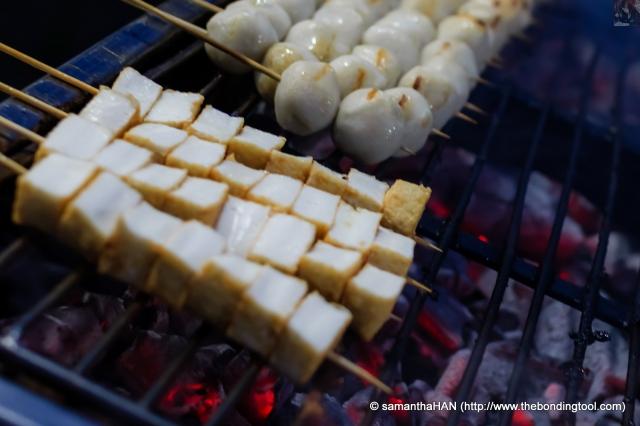 Seafood Tofu and Fishballs.