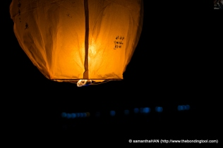 Then, let go of the lantern.