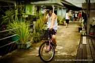 Taking snaphots on a stolen bike, lol... Just joking, chill!
