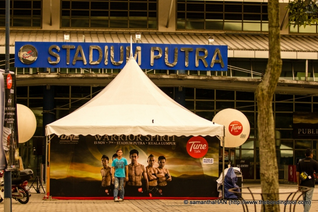 We arrived at Putra Indoor Stadium, Bukit Jalil, Kuala Lumpur, Malaysia, before 5pm.