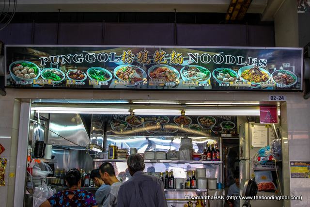 Punggol Noodles take orders for their meatballs which many buys for CNY reunion dinners.