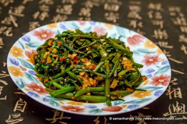 Our homecooked Sambal Kangkong.