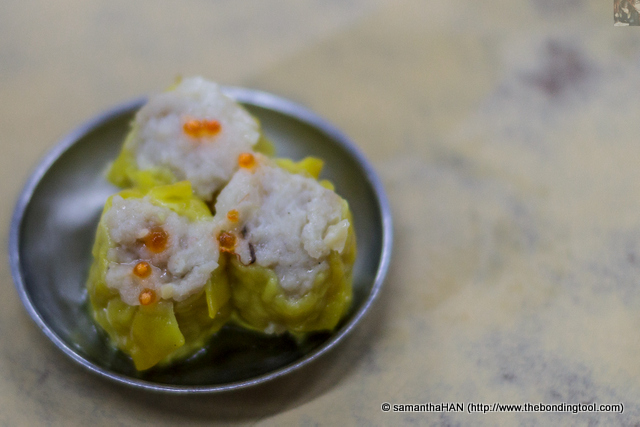 Siu Mai 烧卖.<br />This I supposed is a must have item when eating dim sum.<br />Not steaming hot when the dish arrived.<br />By now, Paul was more interested in having a shower and a good night's sleep than food.
