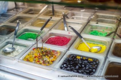 Dessert stall at Tiong Bahru Market.