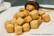 Deep-fried Tofu cubes.