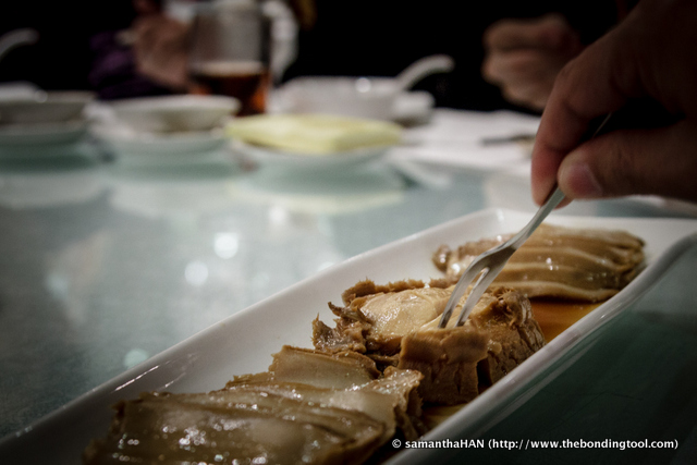 Abalone chunks.