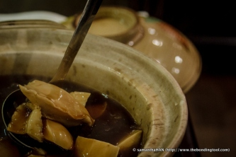 The sauce has been prepared while we were dining and the abalone chunks were already stewed in soup earlier so the cooking of this dish did not take long.