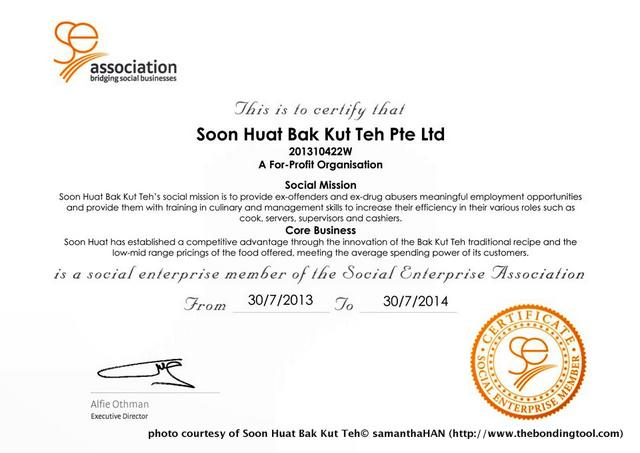 2 years after Jabez started his BKT business, Soon Huat became a member of the SE Association.