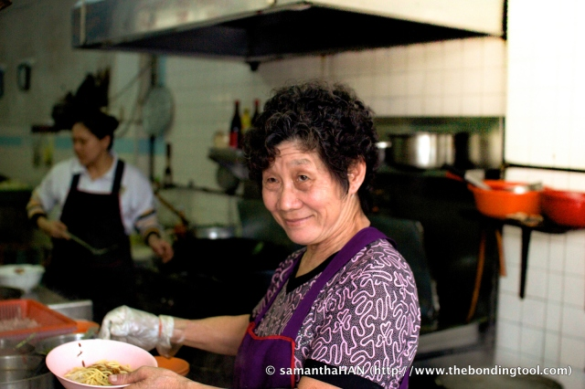Mdm Tan carrying on her husband's legacy of simple yet delicious food which they have been operating for the past 30 years.
