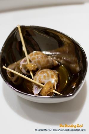 Japanese Snails. A cold appetiser.