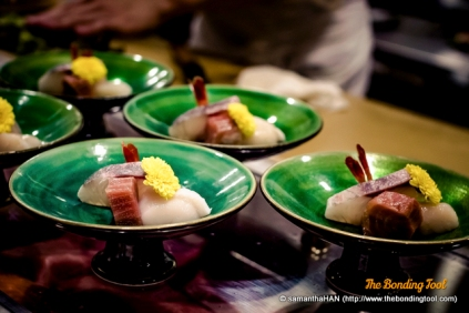 These sashimi were prepared for some of his regular customers.