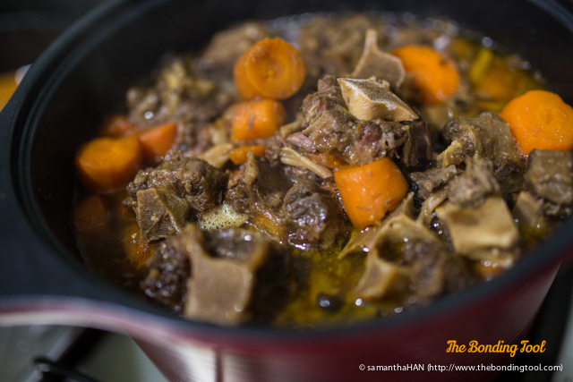 Oxtail stewed till fork tender.