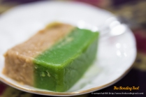 Talam - Pandan and Gula Melaka Rice Kueh.