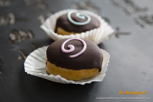 Mini Chocolate Doughnuts.