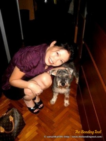Pepper and I. By now, Pepper was a very old dog.