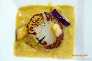 Scallop with Aubergine.