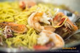 Seafood comprising of Prawns, Squid Rings and Baby Squid with Pasta.
