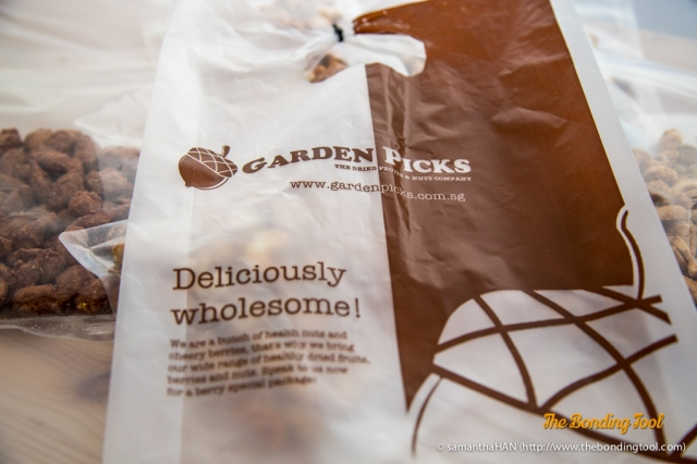 "Garden Picks has a wide variety of dried fruits, nuts and seeds. The company is having ""Garden Picks All Year Special: 3 for S$10 only""."