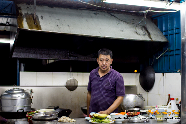 Mr. Choong, cooking up a storm in Johor.