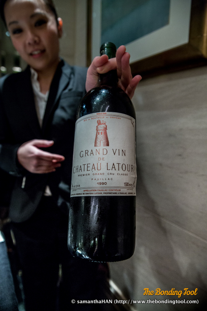Château Latour is a French wine estate, rated as a First Growth under the 1855 Bordeaux Classification.<br />This 1990 bottle would be decanted shortly.