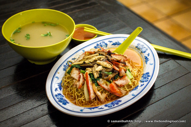 Koka Wanton Noodles are priced at $3, $4 and $5.<br />This was a $5 set that came with 4 or 5 wantons in the soup.